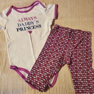 18m Carter's onesie and leggings set